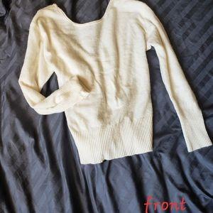 VS Velvet Lace Back Sweater